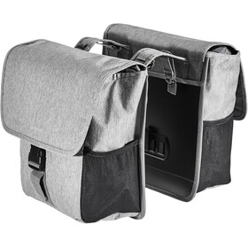 Basil GO Double Pannier Bag 32l grey melee